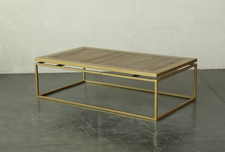 Brass Framed Coffee Table