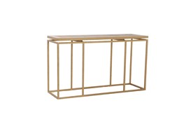 Brass Framed Console Table