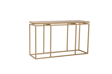 Brass Framed Console Table - Main