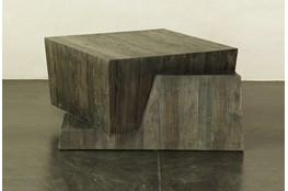 Brushed Aysmetrical Coffee Table