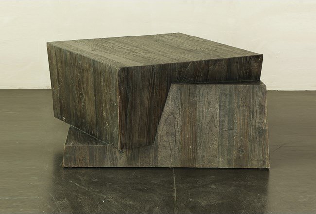 Brushed Aysmetrical Coffee Table - 360