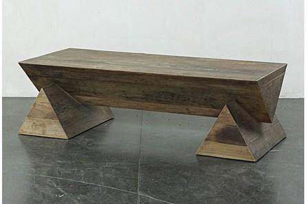 Geo Leg Bench