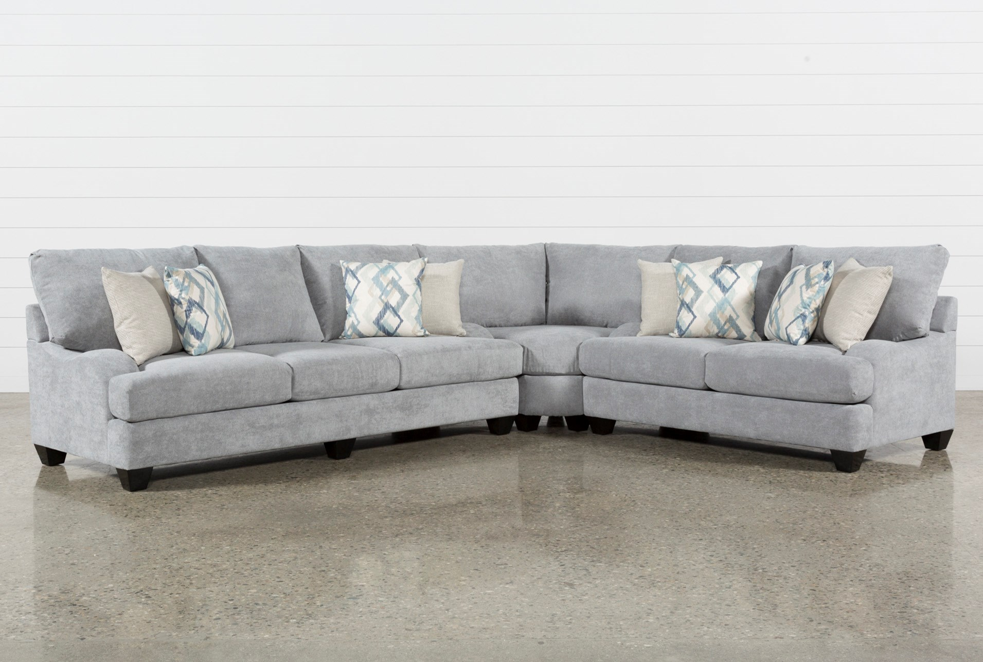 Sierra foam ii 3 piece sectional qty 1 has been successfully added to your cart