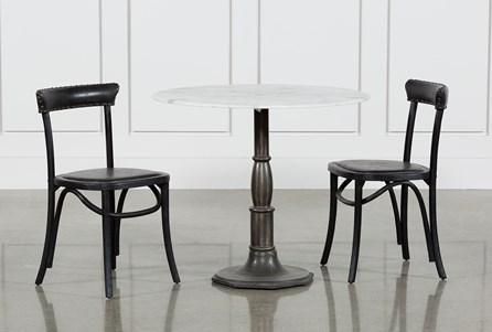 Abigail 3 Piece Bistro Table With Hugo Side Chairs