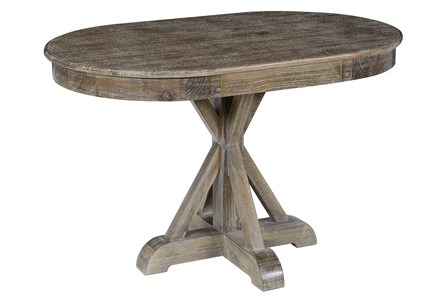 Pine Wood Brown Dining Table - Main