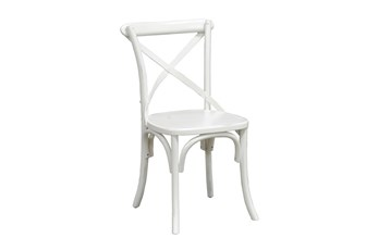 Pine Wood White Dining Chair