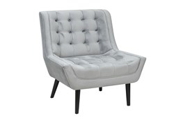 Birch Wood Grey Club Chair