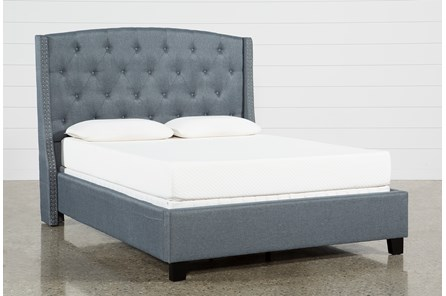 Farrah Queen Upholstered Panel Bed - Main