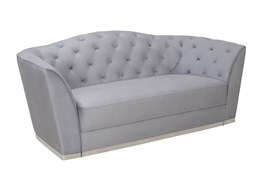 Powder Blue Tufted Sofa