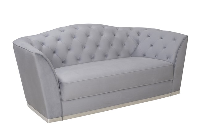 Powder Blue Tufted Sofa 360 Elements