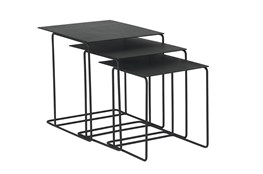 Magnolia Home Traverse Carbon Metal Nesting End Tables By Joanna Gaines