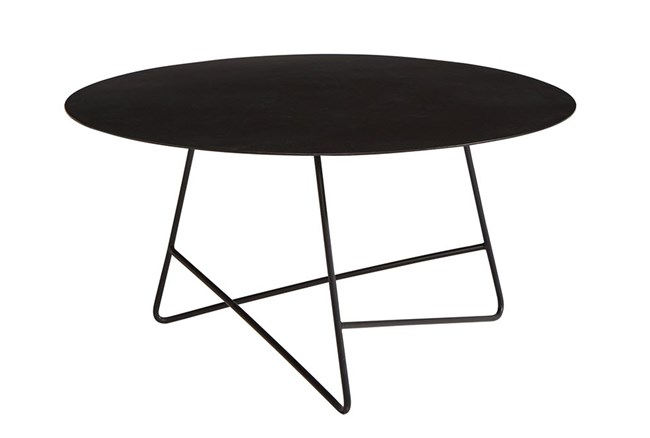 Magnolia Home Traverse Carbon Metal Round Coffee Table By Joanna Gaines - 360