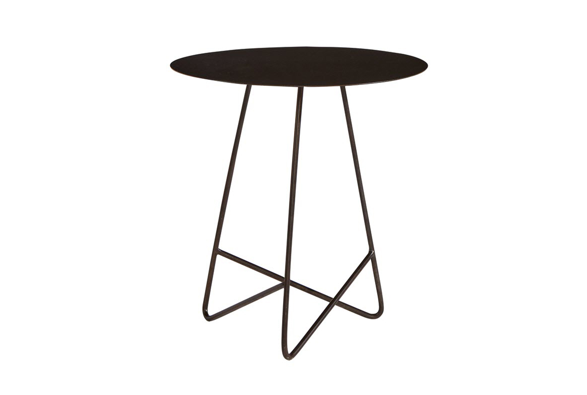 Picture of: Magnolia Home Traverse Carbon Round End Table By Joanna Gaines Living Spaces