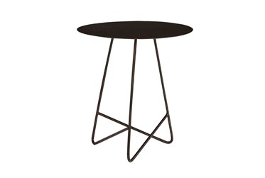 Magnolia Home Traverse Carbon Metal Round End Table By Joanna Gaines