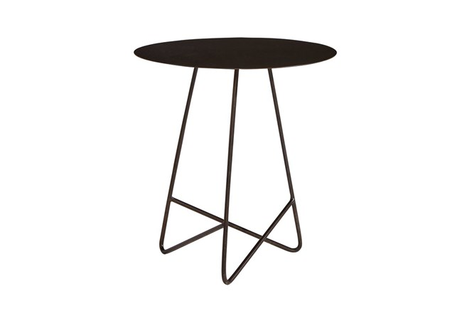 Magnolia Home Traverse Carbon Metal Round End Table By Joanna Gaines - 360