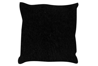 Accent Pillow-Mongolian Lambs Wool Black 18X18