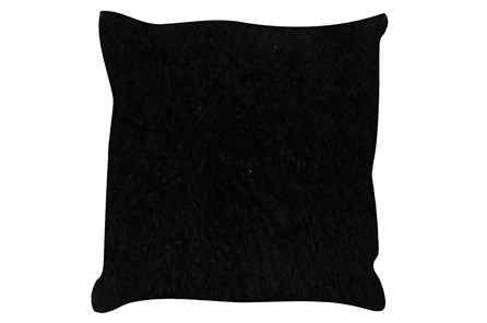 Accent Pillow-Mongolian Lambs Wool Black 18X18