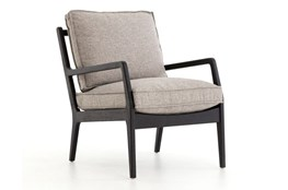 Natural And Black Oak Accent Chair