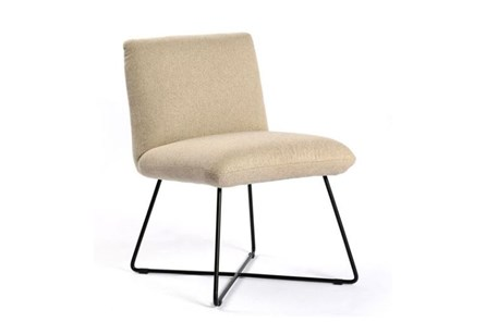 Armless Oatmeal Dining Chair