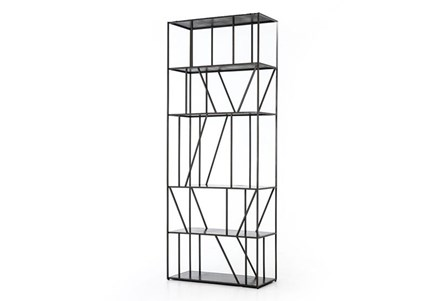 Gunmetal Architectural Bookcase