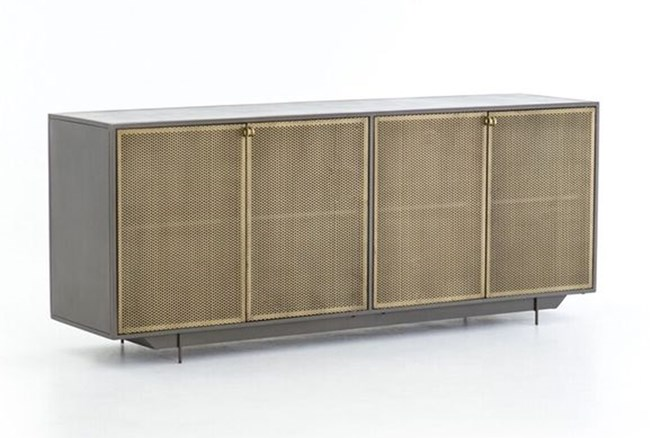 Gunmetal Perforated Brass Sideboard - 360