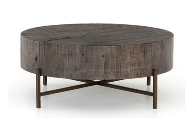 Distressed Grey Coffee Table - 360