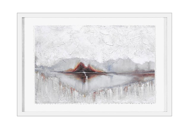 Picture-Abstract Lake Shadowbox 26X36 - 360