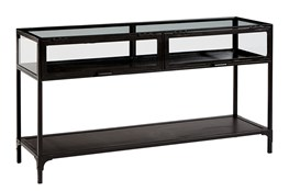 """Magnolia Home Metal And Glass 53"""" Console Table By Joanna Gaines"""