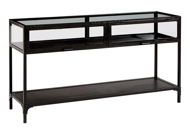 Magnolia Home Metal And Glass Console Table By Joanna Gaines - 360