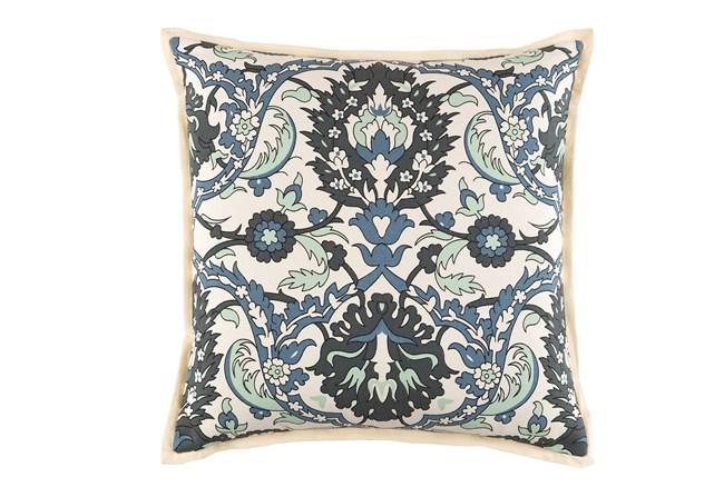 Promo Pillow-Floral Denim/Charcoal 18X18 - 360
