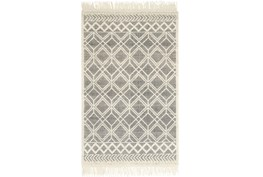60X90 Rug-Magnolia Home Holloway Black/Ivory By Joanna Gaines