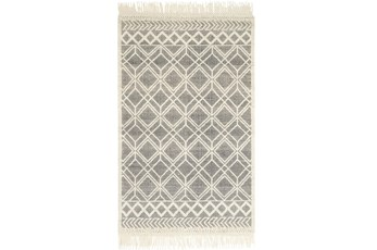 "7'8""x9'8"" Rug-Magnolia Home Holloway Black/Ivory By Joanna Gaines"