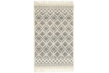 """7'8""""x9'8"""" Rug-Magnolia Home Holloway Black/Ivory By Joanna Gaines"""