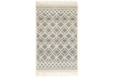 93X117 Rug-Magnolia Home Holloway Black/Ivory By Joanna Gaines