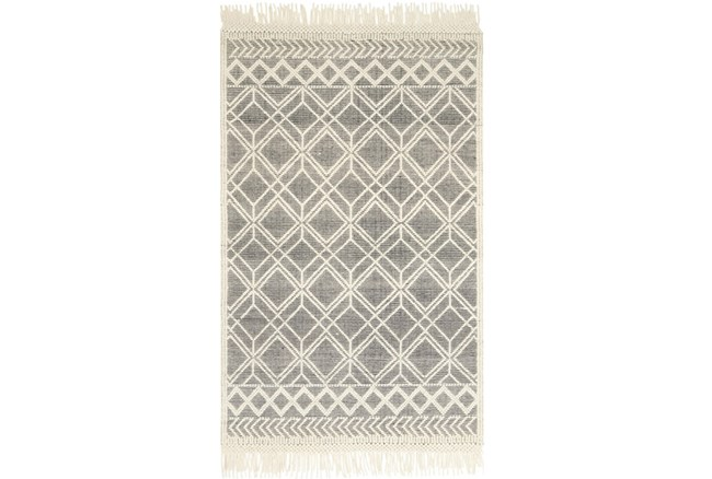 93X117 Rug-Magnolia Home Holloway Black/Ivory By Joanna Gaines - 360