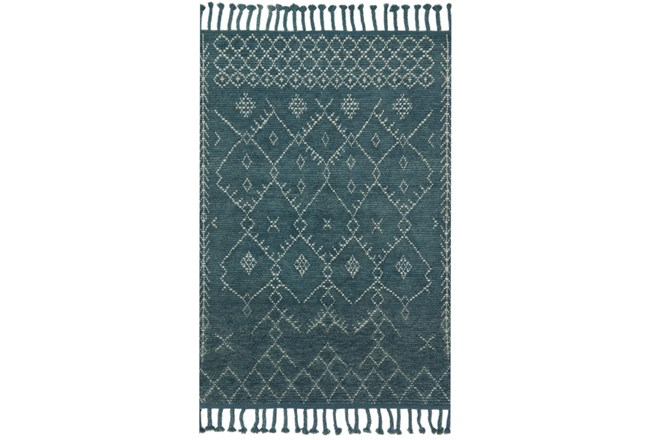 66X102 Rug-Magnolia Home Tulum Blue/Blue By Joanna Gaines - 360