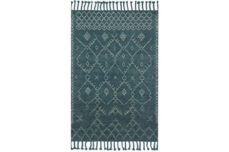 93X117 Rug-Magnolia Home Tulum Blue/Blue By Joanna Gaines
