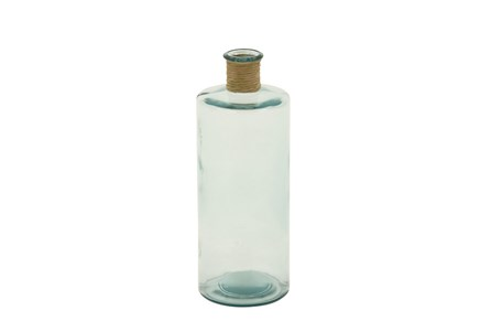16 Inch Clear Glass Bottle With Rope