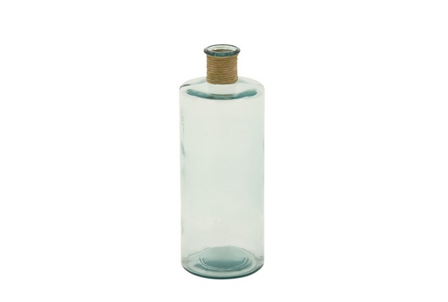 16 Inch Clear Glass Bottle With Rope - 360