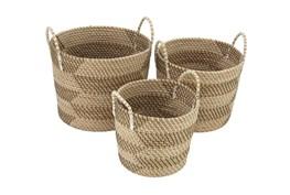 Set Of 3 Natural Seagrass Basket