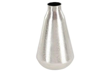 16 Inch Silver Metal Vase