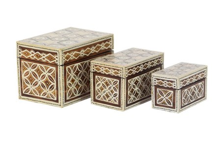 Set Of 3 Batik Boxes - Main