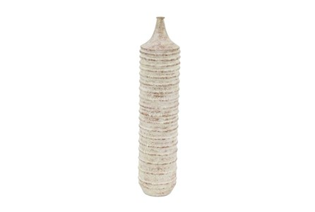 20 Inch White Wash Tall Vase
