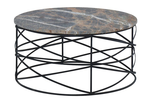 Iron And Marble Coffee Table - 360