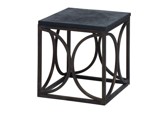 Easton Slate Side Table Base - 360