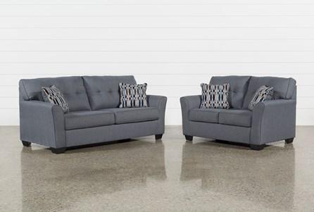 Chilkoot Gunmetal 2 Piece Living Room Set