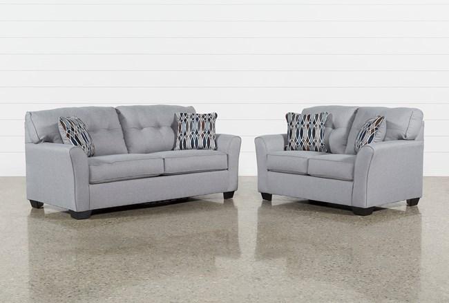 Chilkoot Smoke 2 Piece Living Room Set - 360