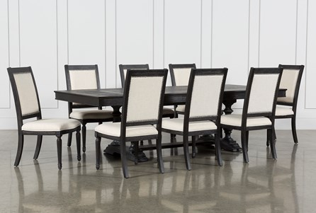 Chapleau II 9 Piece Extension Dining Table With Side Chairs
