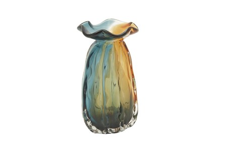 9 Inch Tinted Glass Vase