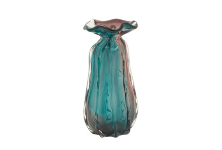 12 Inch Tinted Glass Vase
